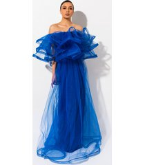 akira miss you tulle maxi dress
