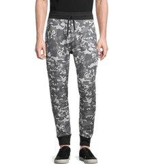 greyson men's camo-print pima cotton-blend jogger pants - camo wolf - size xl