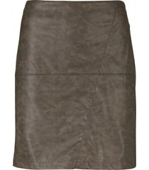kjol i skinnimitation, tvättad look