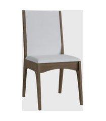 cadeira mdf estofada (envelopada) par marrom móveis cançáo