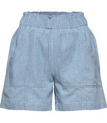 slfnovo mw shorts w shorts denim shorts blå selected femme