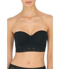 natori bliss perfection strapless contour underwire bra, women's, black, size 34d natori