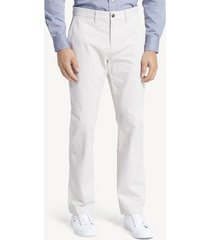 tommy hilfiger men's custom fit essential stretch chino as is stone - 30/32
