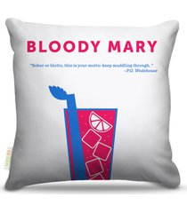 almofada nerderia bebidas vetor bloody mary 45x45cm - multicolorido - dafiti