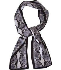 amaro feminino lenço faixa cobra, preto