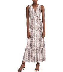 inc snake-embossed faux-wrap maxi dress, created for macy's