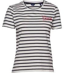 d1. breton stripe ss t-shirt t-shirts & tops short-sleeved blå gant
