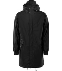 blazer rains long quilted parka