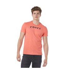 camiseta convicto estampa neon lights laranja