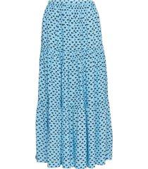 gathered midi skirt lång kjol blå calvin klein jeans