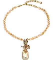 heidi daus women's goldplated & multi-stone bee pendant necklace