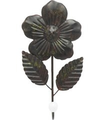 cabideiro de parede kasa ideia de metal flor rústico