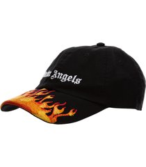 palm angels burning baseball cap