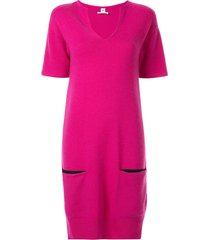 hermès pre-owned short sleeve one piece skirt - pink