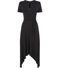 asymmetrische jurk met stippen
