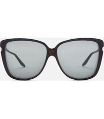 gucci women's oversized acetate sunglasses - black/grey