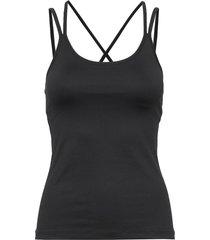 cross back yoga top t-shirts & tops sleeveless zwart filippa k soft sport