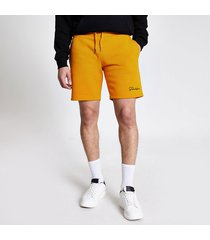 river island mens prolific mustard slim fit shorts