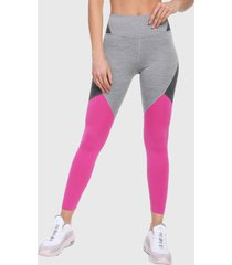 leggings gris-fucsia nike mid rise tights one