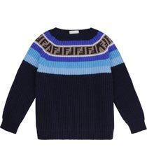 fendi knit wool blend pullover