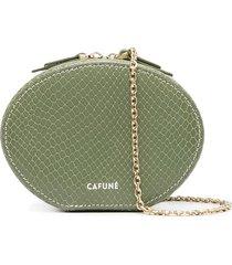 cafuné snakeskin oval clutch bag - green