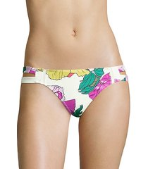 santiago floral bikini bottom