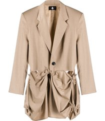 duoltd draped trench coat - neutrals
