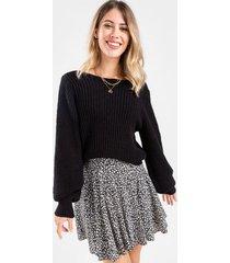rosaline ditsy floral mini skirt - black