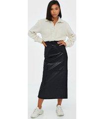 glamorous black pu skirt maxikjolar