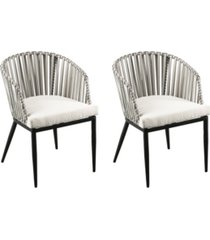 southern enterprises anisa outdoor chairs with cushions 2 piece set