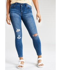 celebrity pink juniors' curvy mid-rise distressed skinny jeans