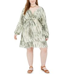 band of gypsies trendy plus size tie-dyed dress