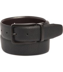 kenneth cole reaction men's stretch reversible faux-leather belt