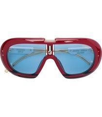 carrera limited edition full-shield sunglasses - red