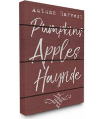 "stupell industries autumn harvest activities canvas wall art, 16"" x 20"""