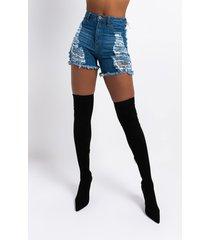 akira erie high waisted denim shorts