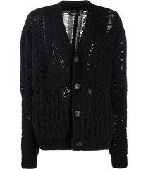 amiri multipoint short cardigan - black