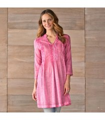 natural impressions-pintuck tunic