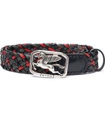 etro woven style belt - black