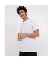 camiseta básica | blue steel | branco | m