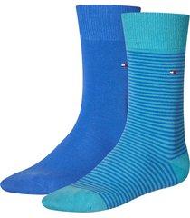 tommy hilfiger sokken 2-pak small stripe blue