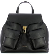 coccinelle black beat soft backpack