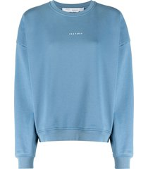 iro logo-print drop-shoulder sweatshirt - blue