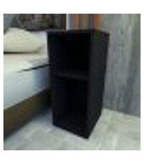 mesa de cabeceira 26x30x60 cm mdf preto tx modelo en0803mc