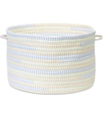 "colonial mills 16"" x 10"" braided fabric basket"