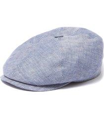 stetson blue brooklin linen flat cap 6643501320