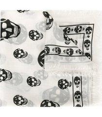 alexander mcqueen lenço com estampa de caveira - neutro