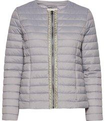 crgilliana quilt jacket kviltad jacka silver cream