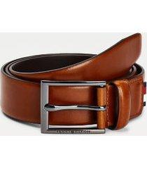 tommy hilfiger men's formal leather belt cognac - 34