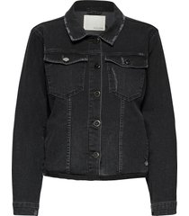 adriana swan denim jacket jeansjacka denimjacka svart pieszak